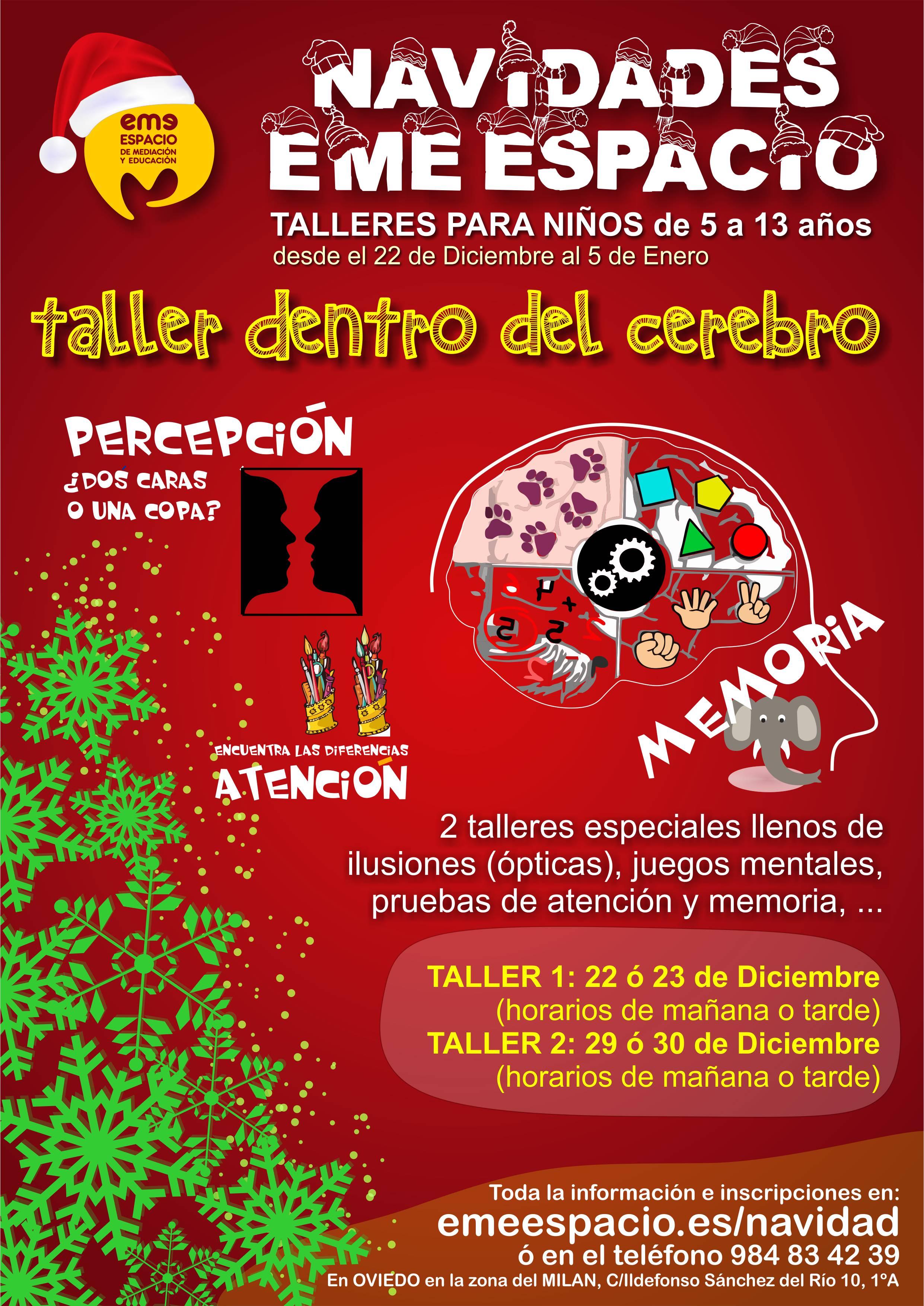 cartel navidades cerebro